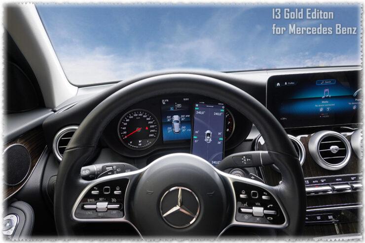 Cảm biến áp suất lốp hiện công tơ mét và điện thoại xe Mercedes Benz