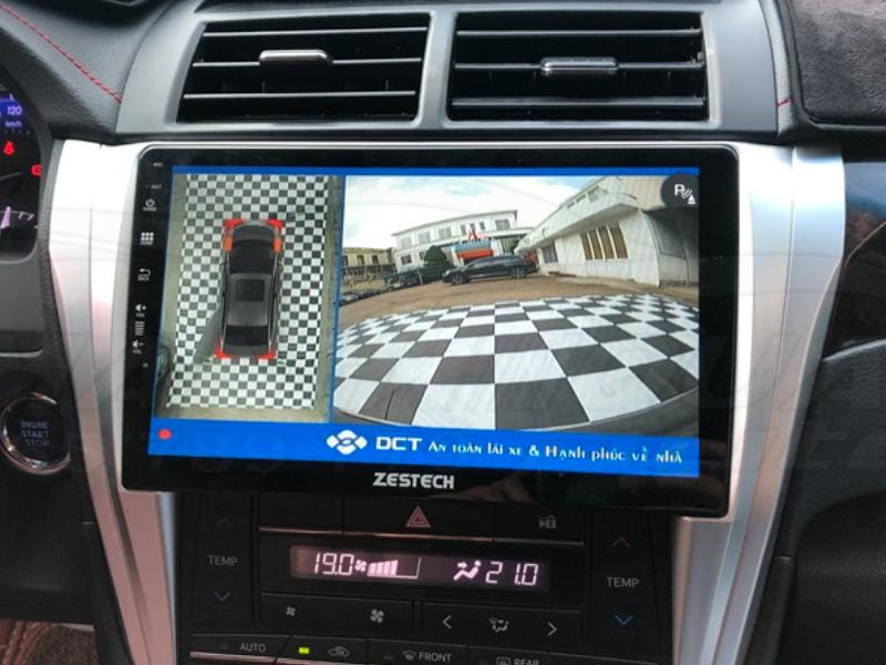 Camera 360DCT giúp tài xế lùi xe dễ dàng