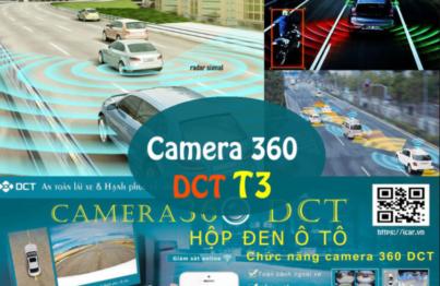Camera 360DCT T3 cảnh báo lệch làn đường