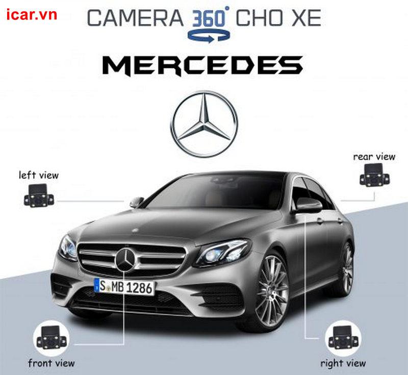 Tổng hợp 3 dòng Camera 360 cho xe Mercedes