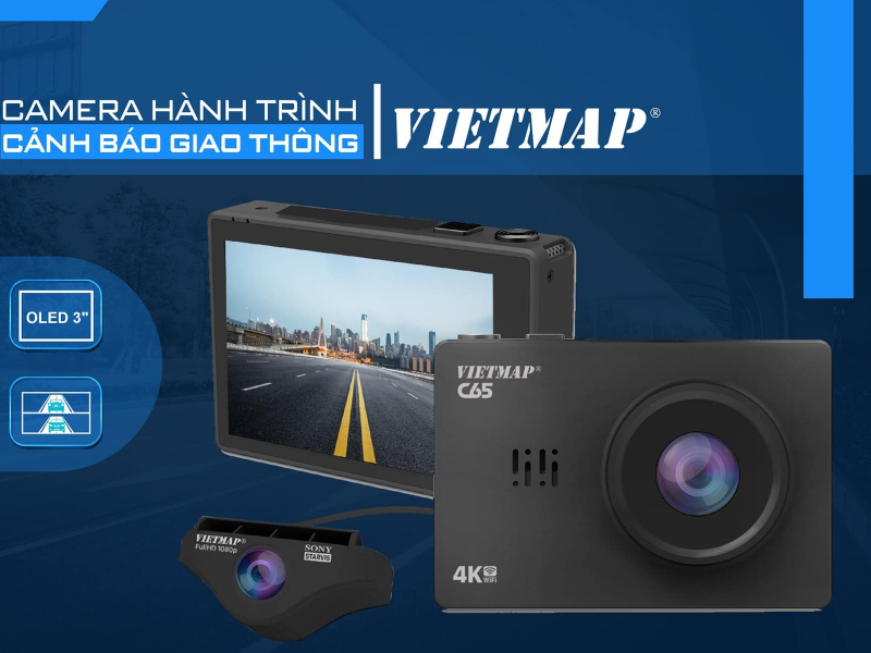 Camera hành trình cảnh báo tốc độ với hình ảnh full HD