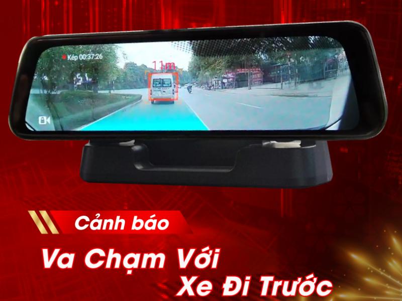 Camera hành trình với tính năng thông báo khoảng cách với xe phía trước