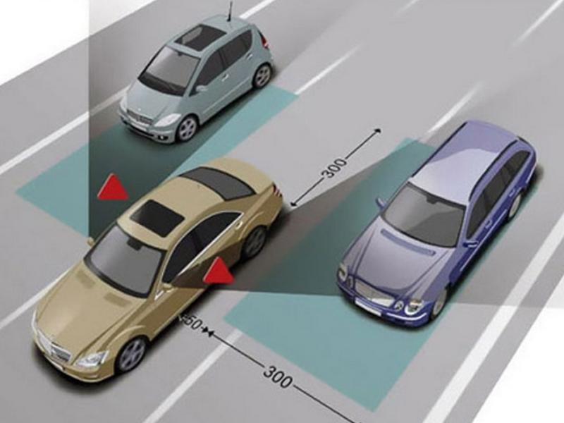 Cảm biến xung quanh xe đo lường khoảng cách với các xe khác