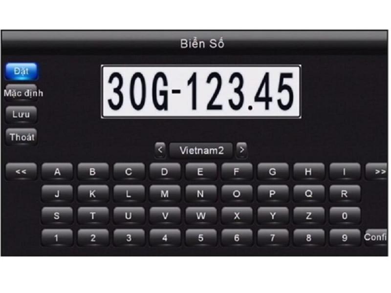 Hệ thống camera 360 ô tô cho phép cài đặt biển số xe cho mô hình