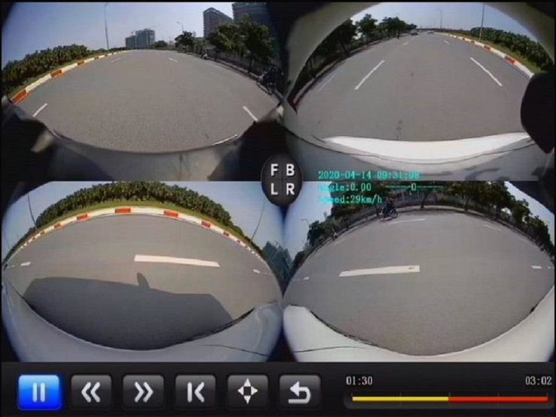 Hiển thị tốc độ thực trên camera 360 ô tô Elliview V4