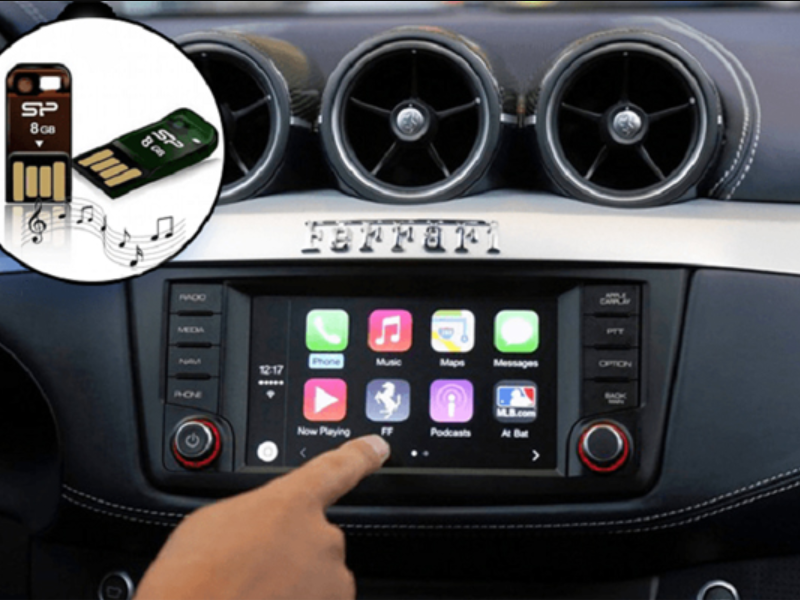 USB giúp tài xế thỏa sức trải nghiệm những bài hát yêu thích ngay trên ô tô