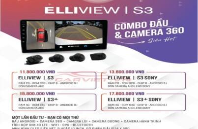 Giá thành của camera 360 tích hợp màn hình Elliview S3