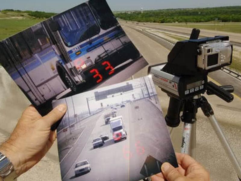 Máy bắn tốc độ giúp ghi lại chi tiết vận tốc vi phạm