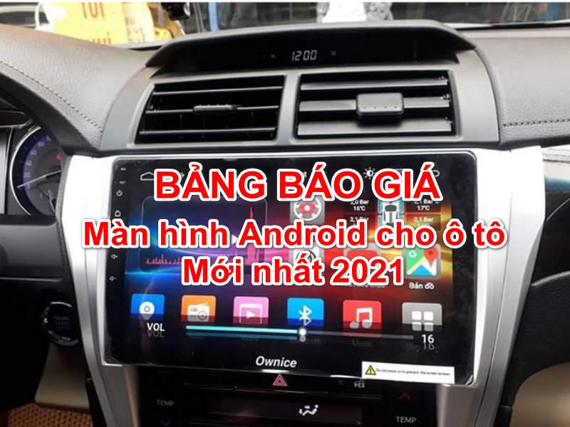 Màn hình Android là thiết bị làm gia tăng sự sang trọng của ô tô