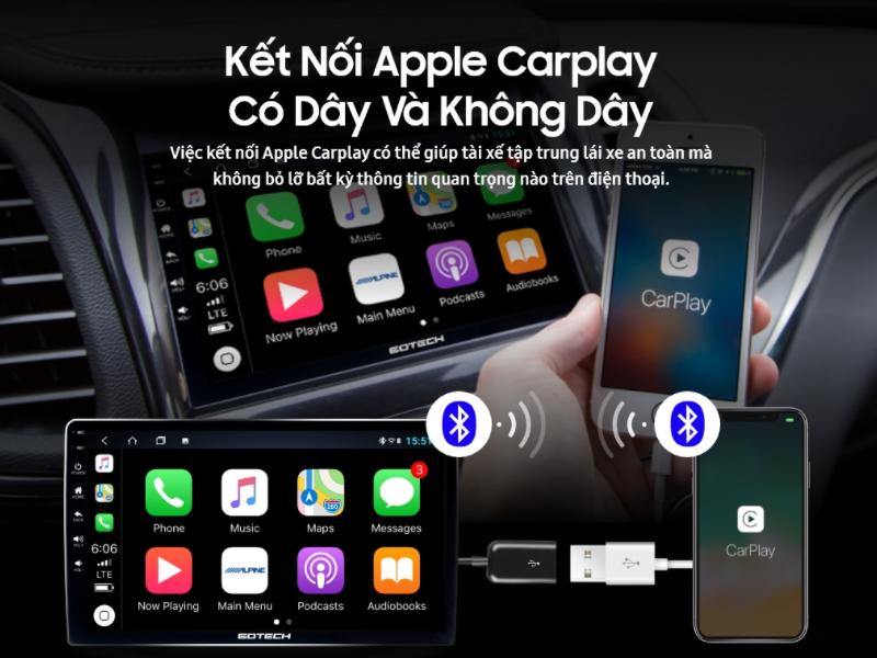 Apple Carplay kết nối điện thoại với ô tô