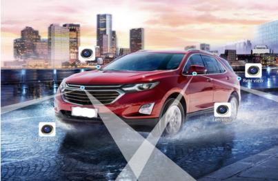Góc quay rộng của camera ô tô 360 độ giúp phát hiện chính xác các vật cản và điểm mù