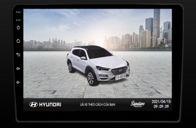 Mẫu cá nhân hóa trên xe ô tô Hyundai
