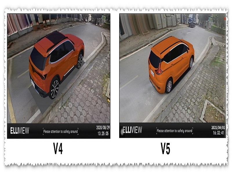 Camera 360 ô tô Elliview V5 không còn phần nền đen dưới gầm xe