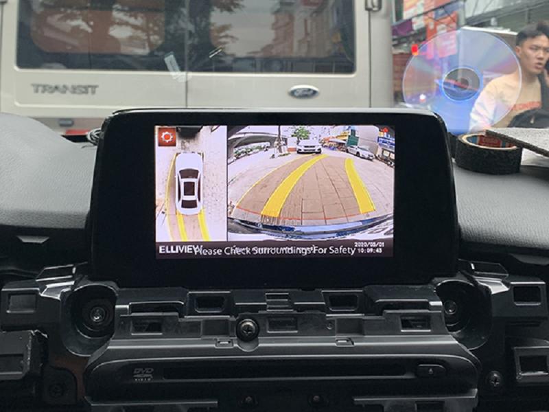 Camera 360 vận hành dễ dàng trên xe ô tô