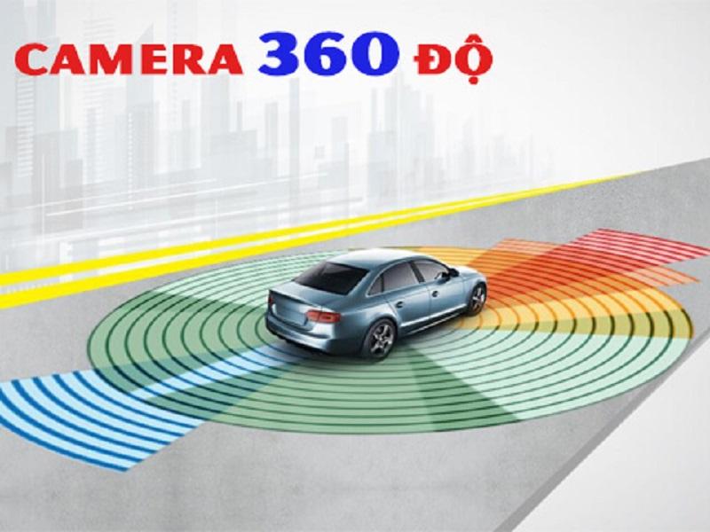 Camera 360 ô tô hỗ trợ quan sát vật cản xung quanh xe