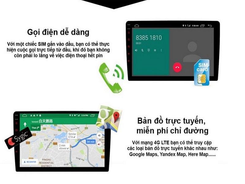 Đầu DVD Android từ thương hiệu Icar Việt Nam có phần mềm dẫn đường miễn phí