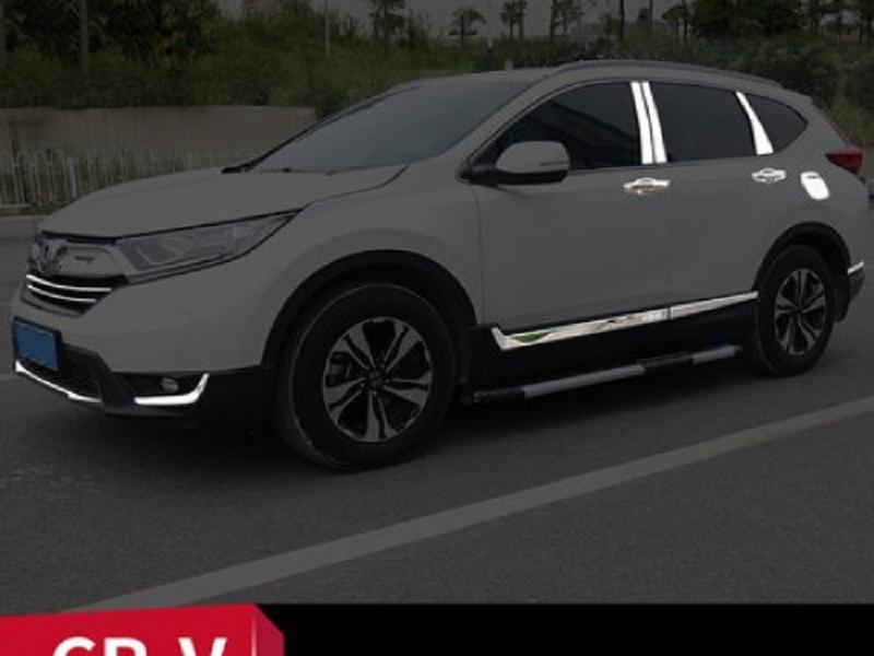 Bộ Full ốp trang trí ngoại thất Crom bạc Honda CRV tại nội thất ô tô Anh Tuấn