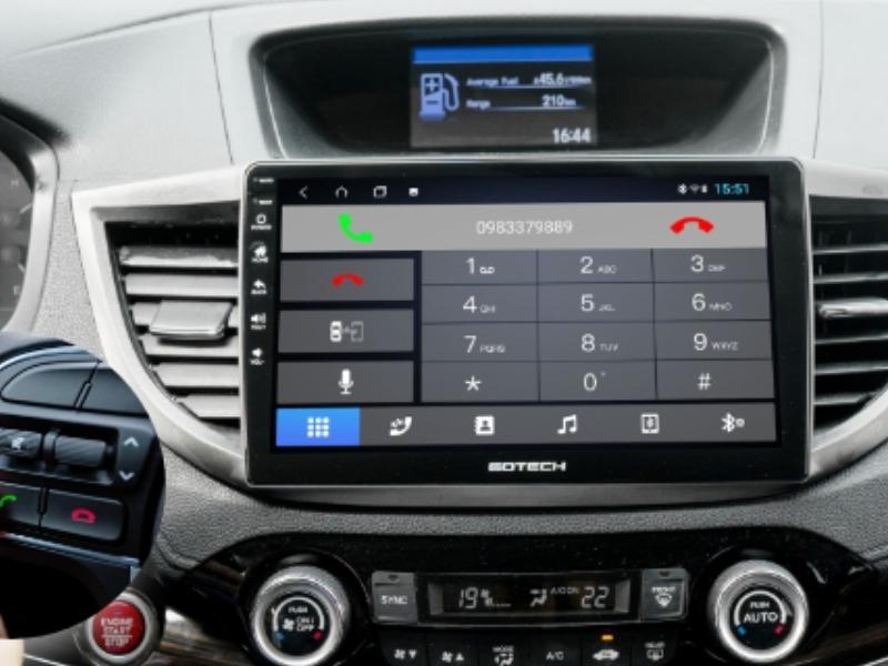 Màn hình Gotech- Kết nối điện thoại hỗ trợ nghe gọi trực tiếp, dễ dàng