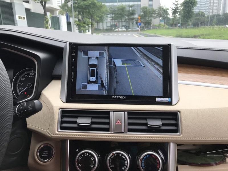 Camera 360 liền màn hình Zestech lắp đặt trên xe hơi