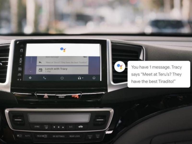 Sử dụng trợ lý Google trên Android Auto