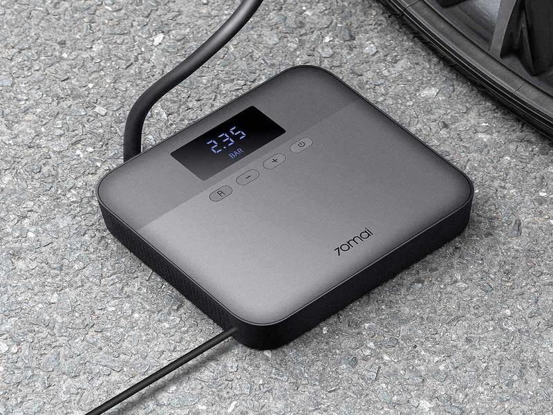 Bơm điện lốp xe hơi Xiaomi 70mai TP03 có khả năng tự động ngắt theo thông số cài đặt