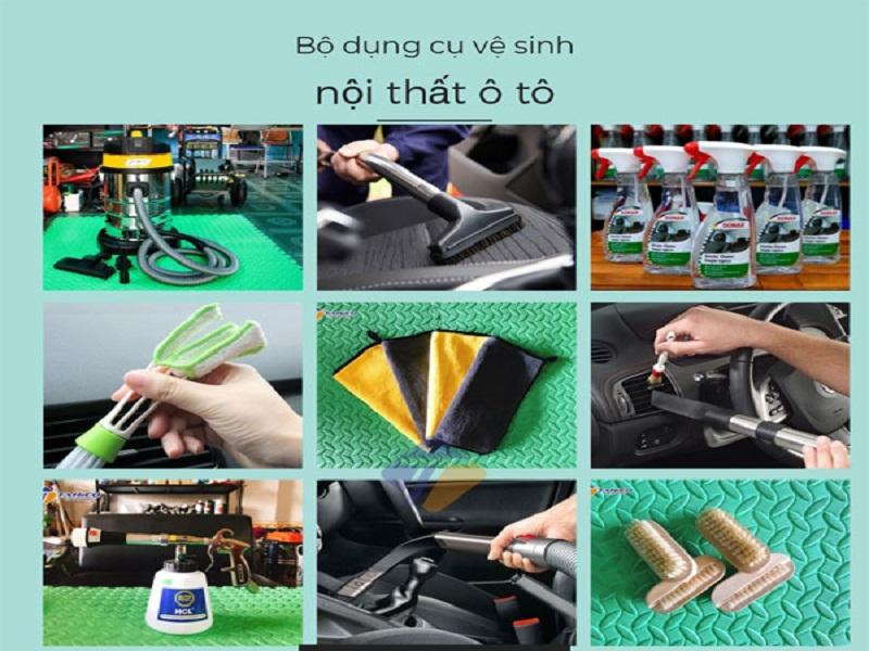 Một số dụng cụ cần thiết khi vệ sinh nội thất xe hơi