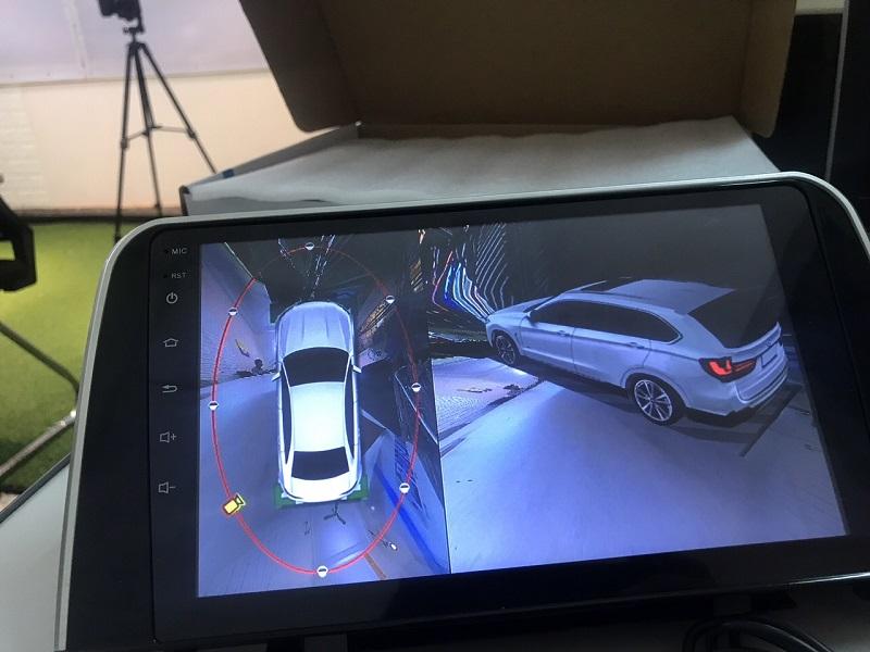Độ nét của hình ảnh từ camera 360 độ ô tô giúp quan sát tốt nhất vào ban đêm