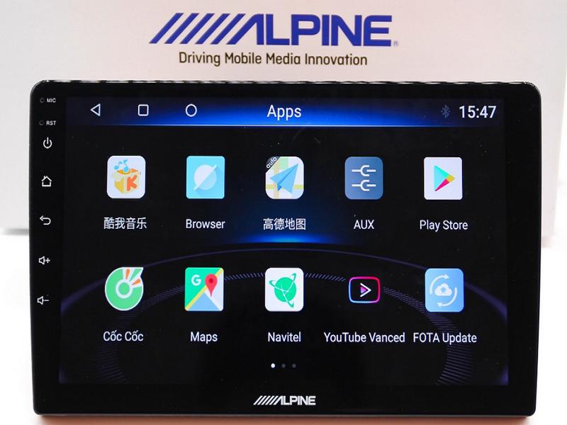 Màn hình ô tô Alpine với giao diện dễ sử dụng cùng nhiều tính năng vượt trội