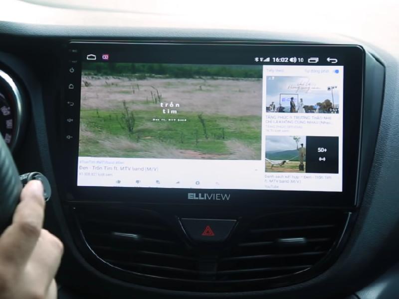 Màn hình android ô tô Elliview U4 Basic với thiết kế đẹp mắt