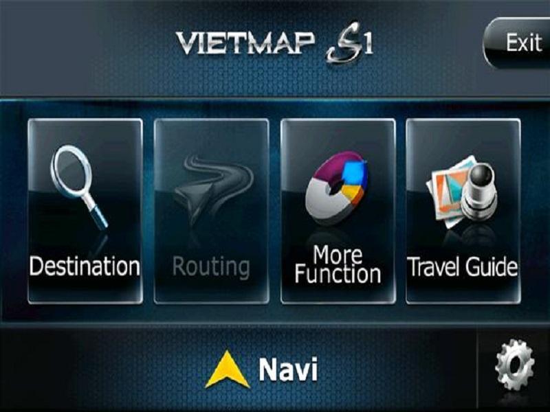 Bản đồ VietMap S1 có giao diện đơn giản