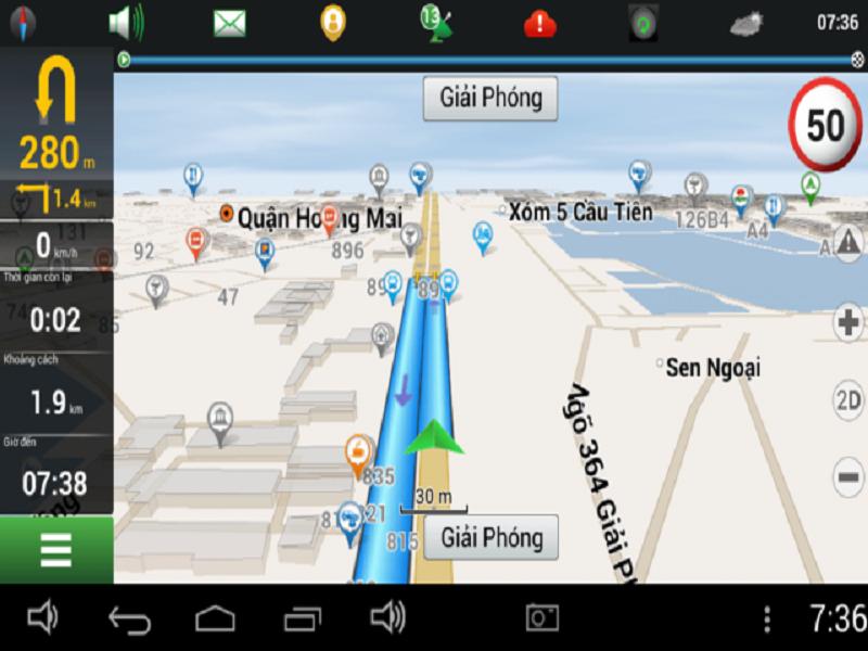 Phần mềm dẫn đường Navitel với giao diện dễ sử dụng