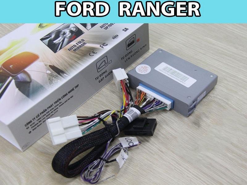 Hệ thống gập gương lên kính tự động cho Ford Ranger