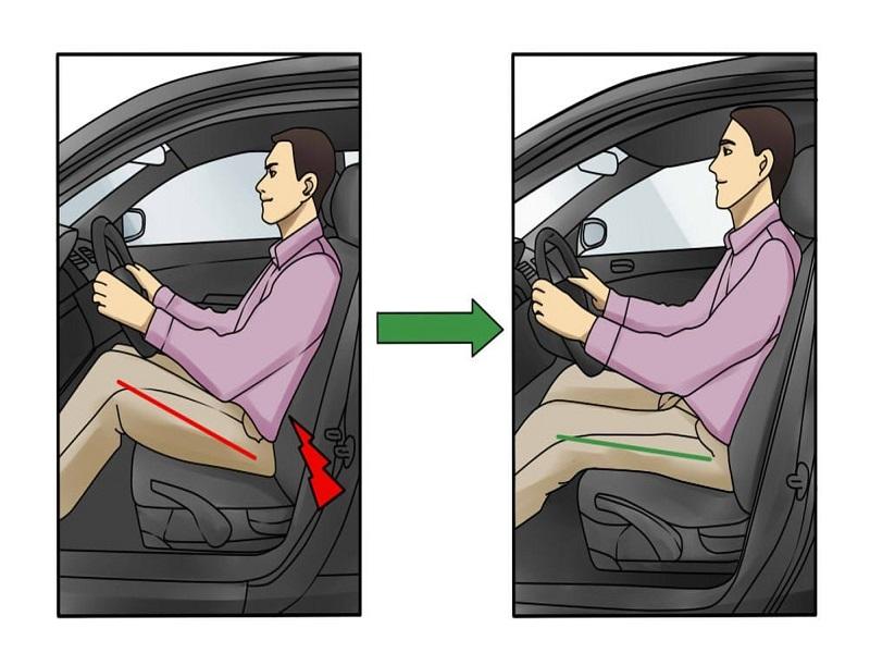 Hỗ trợ tư thế ngồi thoải mái, bảo vệ hệ thống xương khớp và đĩa đệm cho người lái