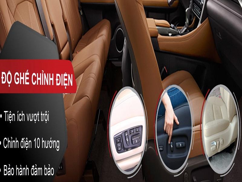 Hỗ trợ độ ghế chỉnh điện cao cấp với giá thành hấp dẫn