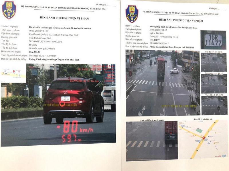 Phạt nguội dựa trên hình ảnh do Camera giao thông ghi lại