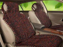 Lót ghế hạt gỗ trắc mang đến cảm giác mát mẻ trong những ngày hè oi bức