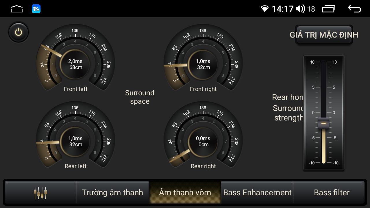 Chỉnh âm thanh DSP trên đầu Android Elliview U4 và S4
